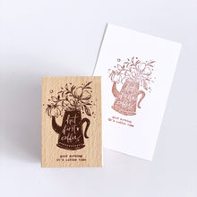 Load image into Gallery viewer, Meow Illustration - But First Coffee Stamp