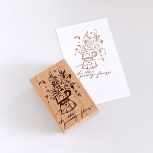 Meow Illustration - Mocha Pot Stamp