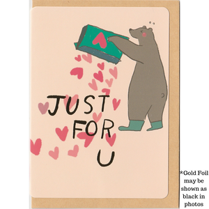 C1030 - Whoosh Bear - Just For You *standard card