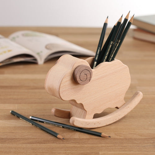Rocking Sheep Pen Holder (Wooden)