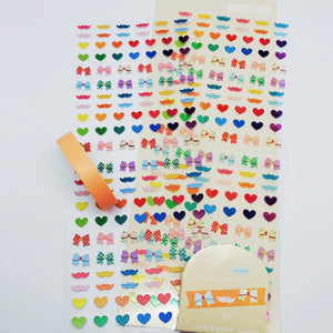 S1191 - Bowknot Sticker + Washi Set