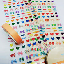 Load image into Gallery viewer, S1191 - Bowknot Sticker + Washi Set