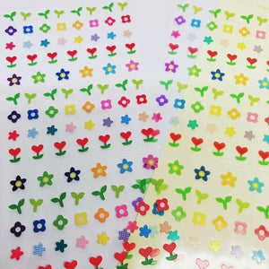 S1193 - Flower Sticker + Washi Set