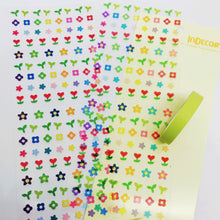 Load image into Gallery viewer, S1193 - Flower Sticker + Washi Set