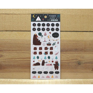 S1290 - Cindy Chu - Bear Planner Stickers