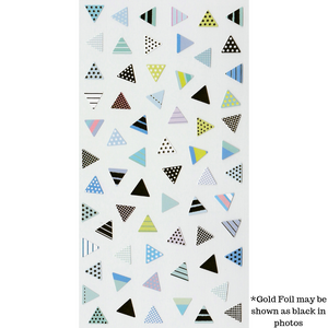 S1026 - Triangles Blue (Gold Foil)