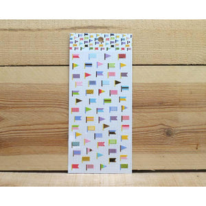 S1028 - Colorful Flags (Gold Foil)