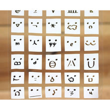 Load image into Gallery viewer, S1034 - White Bear Faces (Gold Foil)