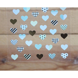 S1043 - Blue Hearts (Gold Foil)