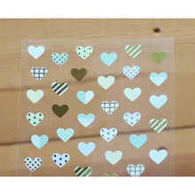 Load image into Gallery viewer, S1043 - Blue Hearts (Gold Foil)