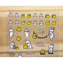 Load image into Gallery viewer, S1044 - Lazy Rabbit & Mr. Chu - Planner Sticker