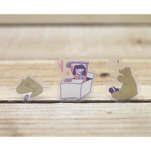 Load image into Gallery viewer, F1009 - Xiuxiu Bear - With Girl *waterproof stickers