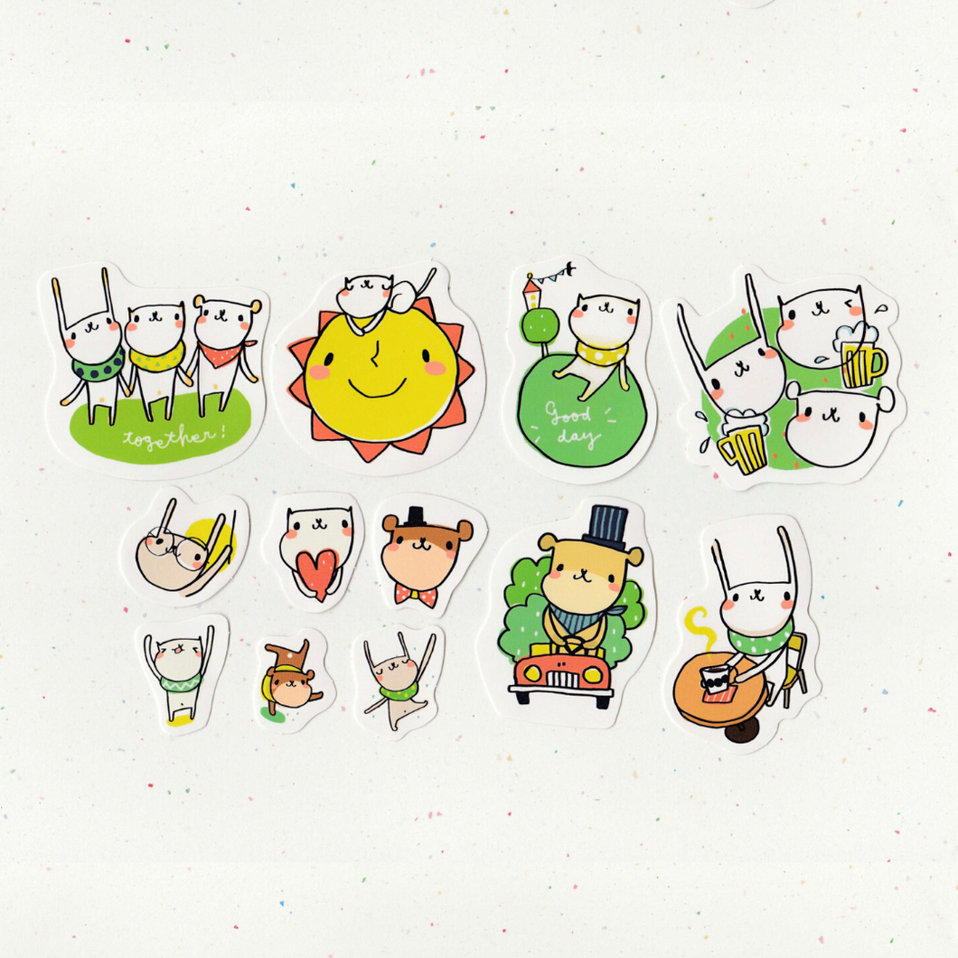 F1006 - Mia - Forest Friends Picnic *waterproof stickers