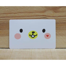 Load image into Gallery viewer, CS1006 - Smiley White Bear Sticker *card size
