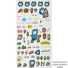 Load image into Gallery viewer, S1078 - Ning - Planner Sticker (Gold Foil)