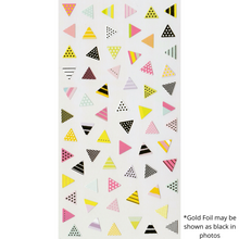 Load image into Gallery viewer, S1087 - Triangles Pink (Gold Foil)