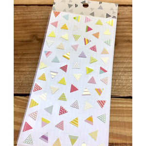 S1087 - Triangles Pink (Gold Foil)