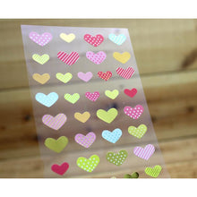 Load image into Gallery viewer, S1092 - Bigger Hearts (Gold Foil) Sticker Sheet