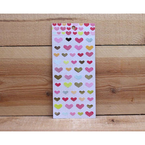 S1092 - Bigger Hearts (Gold Foil) Sticker Sheet