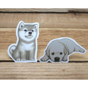 F1007 - Puppies *waterproof stickers
