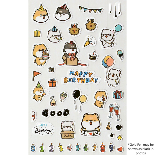 S1114 - Hi John! - Happy Birthday (Gold Foil)