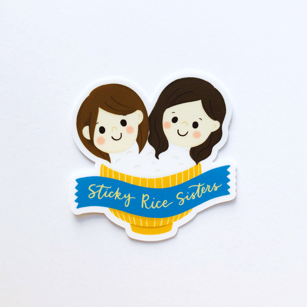 Sticky Rice Sisters Vinyl Sticker *waterproof