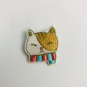 Sweet Secrets - Kitty with Scarf Embroidery Pin