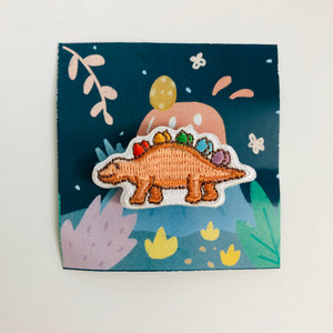 Sweet Secrets - Rainbow Dinosaur Embroidery Pin