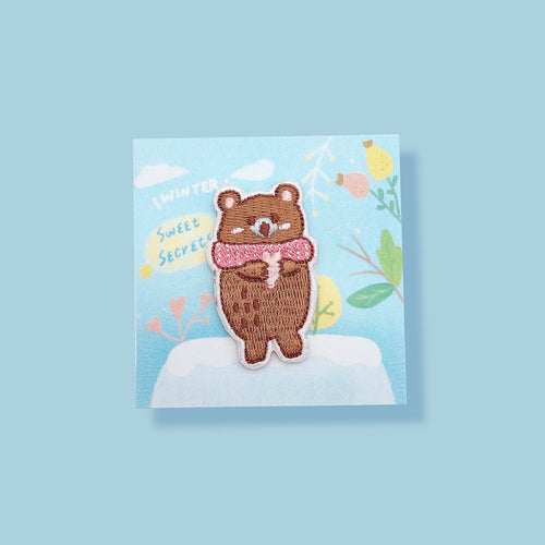 Sweet Secrets - Winter Bear Embroidery Pin