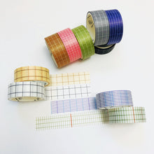Load image into Gallery viewer, W1059 - Grid Washi Set (10 rolls)