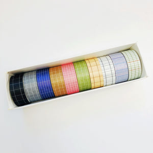 W1059 - Grid Washi Set (10 rolls)