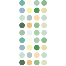 Load image into Gallery viewer, W1061 - Green Dots Washi Sticker Roll