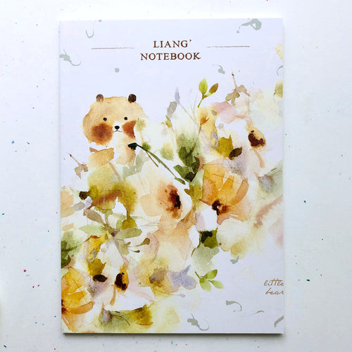 Watercolor Bear Notebook *grid