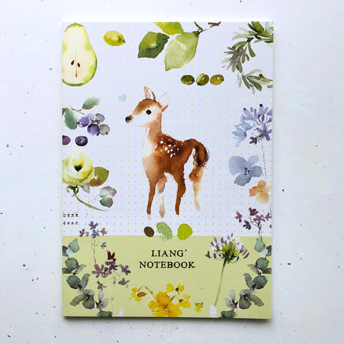 Watercolor Deer Notebook *lined