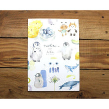 Load image into Gallery viewer, Watercolor Penguin Notebook *grid