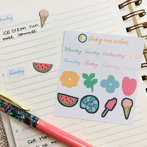 SRS1016 - Planner Sticker Sheet - B