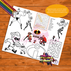 Incredibles Activity Sheet