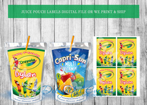 Crayon Juice Pouch Labels