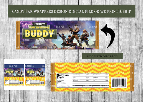Candy Bar Wrappers Birthday or Baby Shower - Printed ONLY (Please Read Item Description)