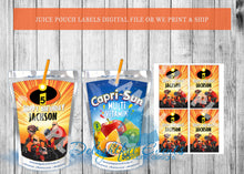 Load image into Gallery viewer, Incredibles Juice Pouch Labels