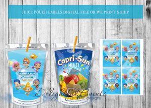 Bubble Guppies Juice Pouch Labels