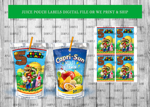 Juice Pouch Labels Birthday or Baby Shower - PRINTED ONLY (Please Read Item Description)