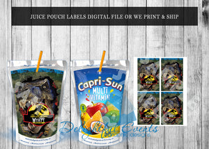 Jurassic Park Juice Pouch Labels