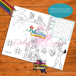 Little Mermaid Activity Sheet