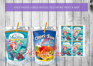 Mermaid Juice Pouch Labels