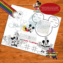 Load image into Gallery viewer, Mickey Mouse Activity Sheet