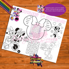 Load image into Gallery viewer, Minnie Mouse Activity Sheets