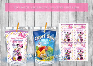 Minnie Mouse Juice Pouch Labels