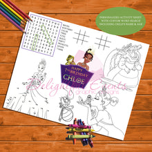 Load image into Gallery viewer, Princess and the Frog Activity Sheet