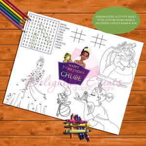 Princess and the Frog Activity Sheet
